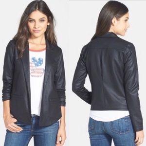 Lucky Brand Black Open Front Tuxedo Blazer Sz S